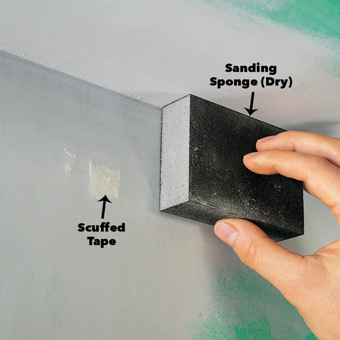 scuffed drywall tape sanding compound