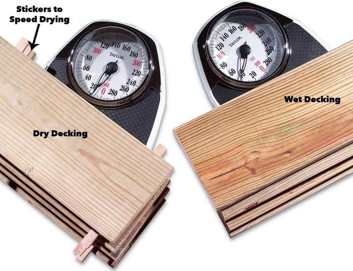 dry wood vs wet wood