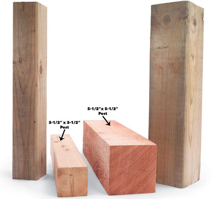 4×4 and 6×6 post comparison