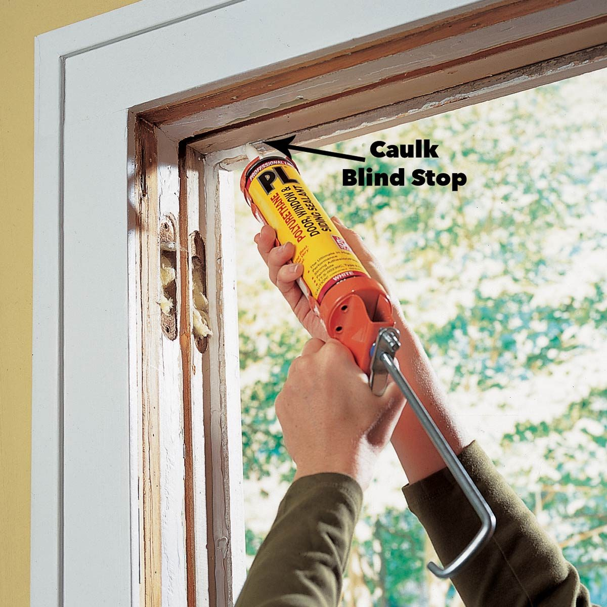 caulk window replacement