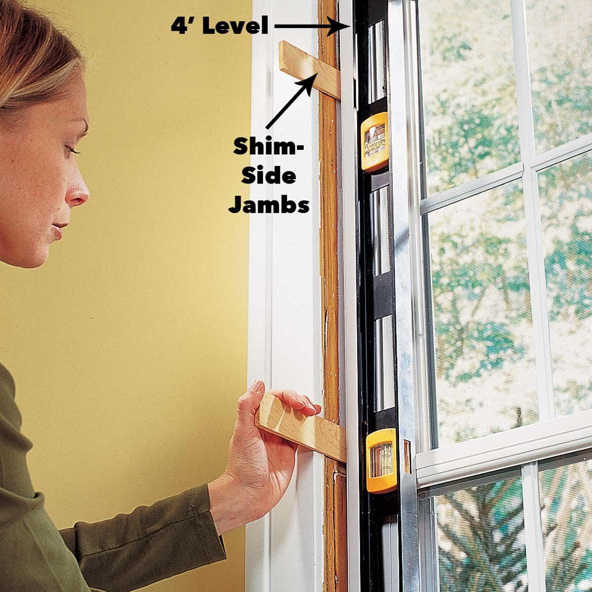plumb the window