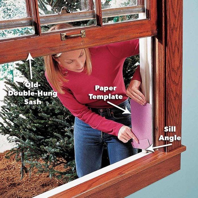 bottom angle of sash window replacement