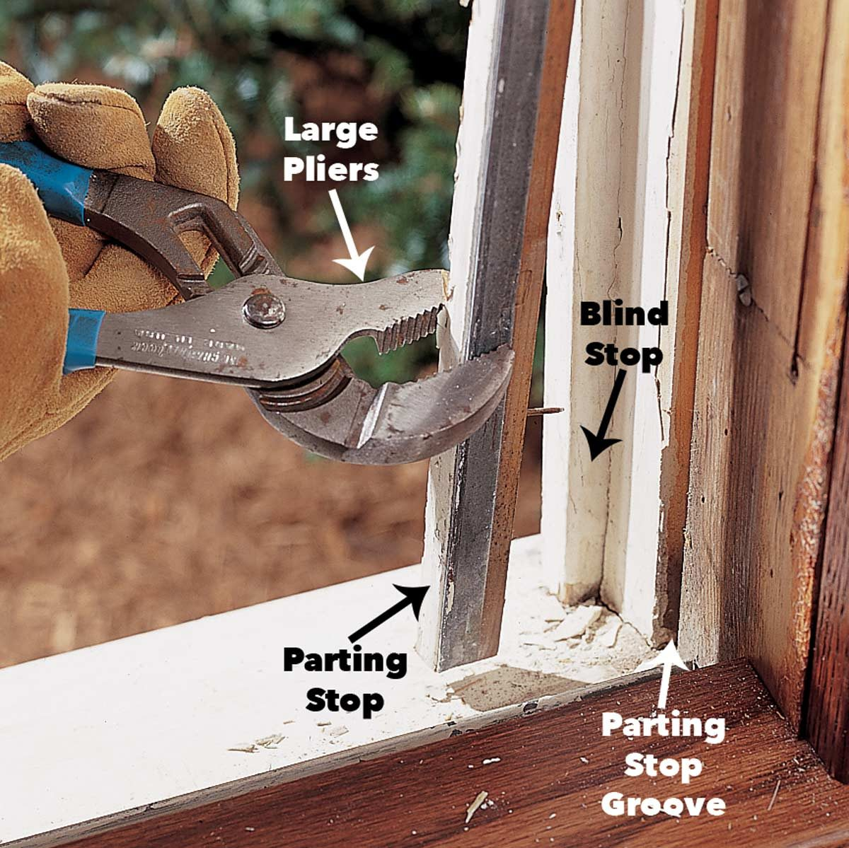 remove parting stop window