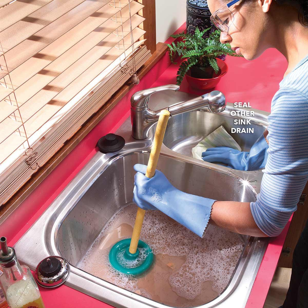 How to Unclog a Sink Drain with a Plunger and a Snake | Family ...