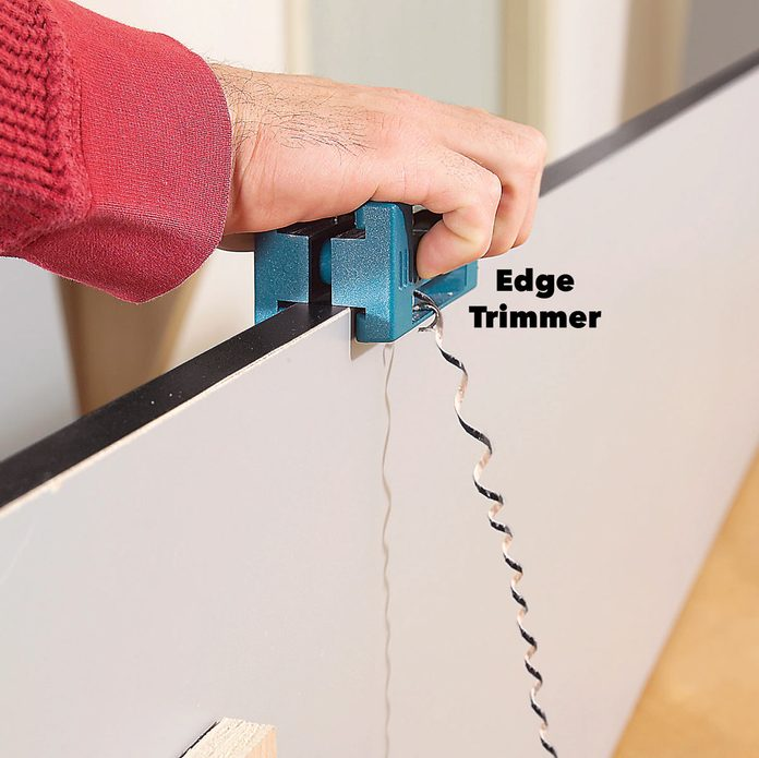 trim edge banding with edge trimmer