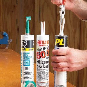 Caulk Tube Spout Saver