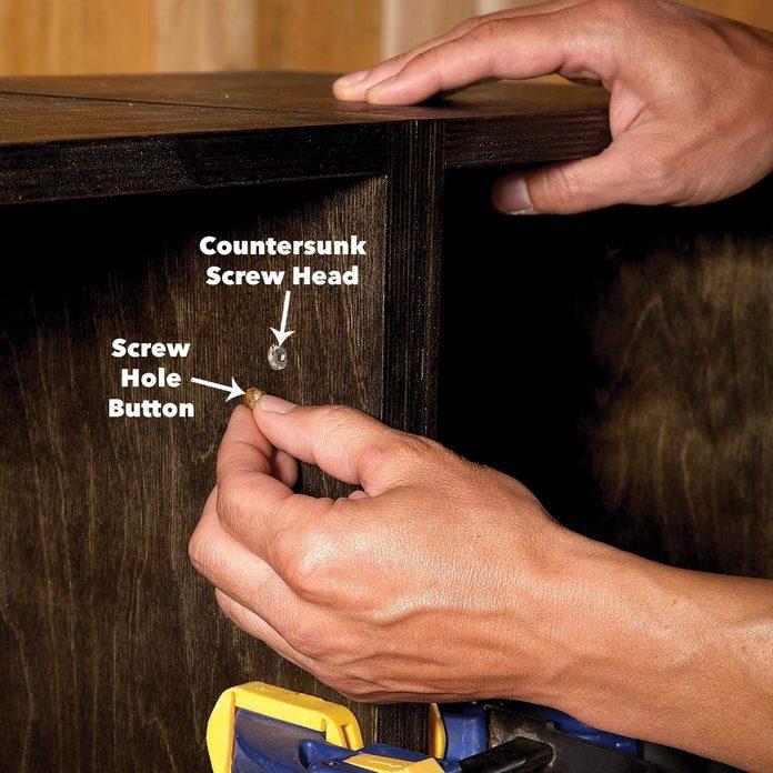 apply a finish modular box shelves