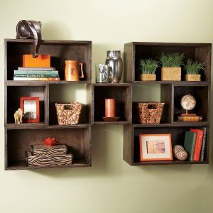 DIY Box Shelves