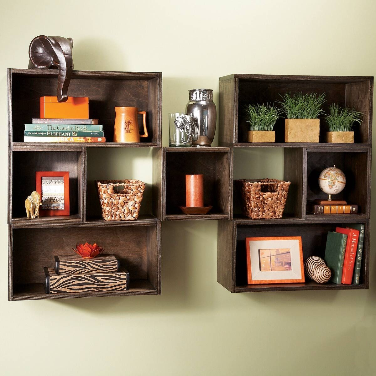 Box Diy Shelves