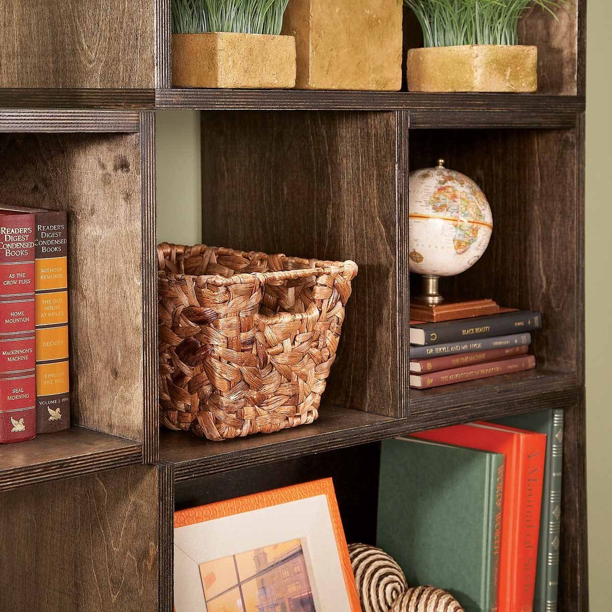 hang and arrange modular box shelves