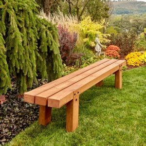 Simple Timber Outdoor Bench