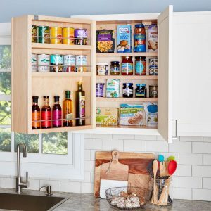 Swing-out Storage Kitchen Cabinets