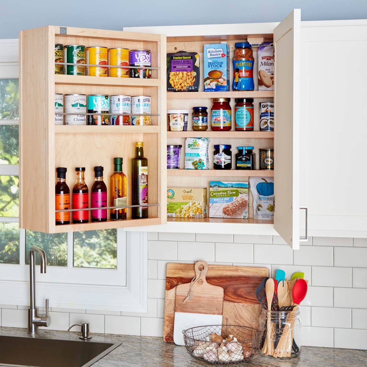 Swing Out Storage Kitchen Cabinets The Family Handyman