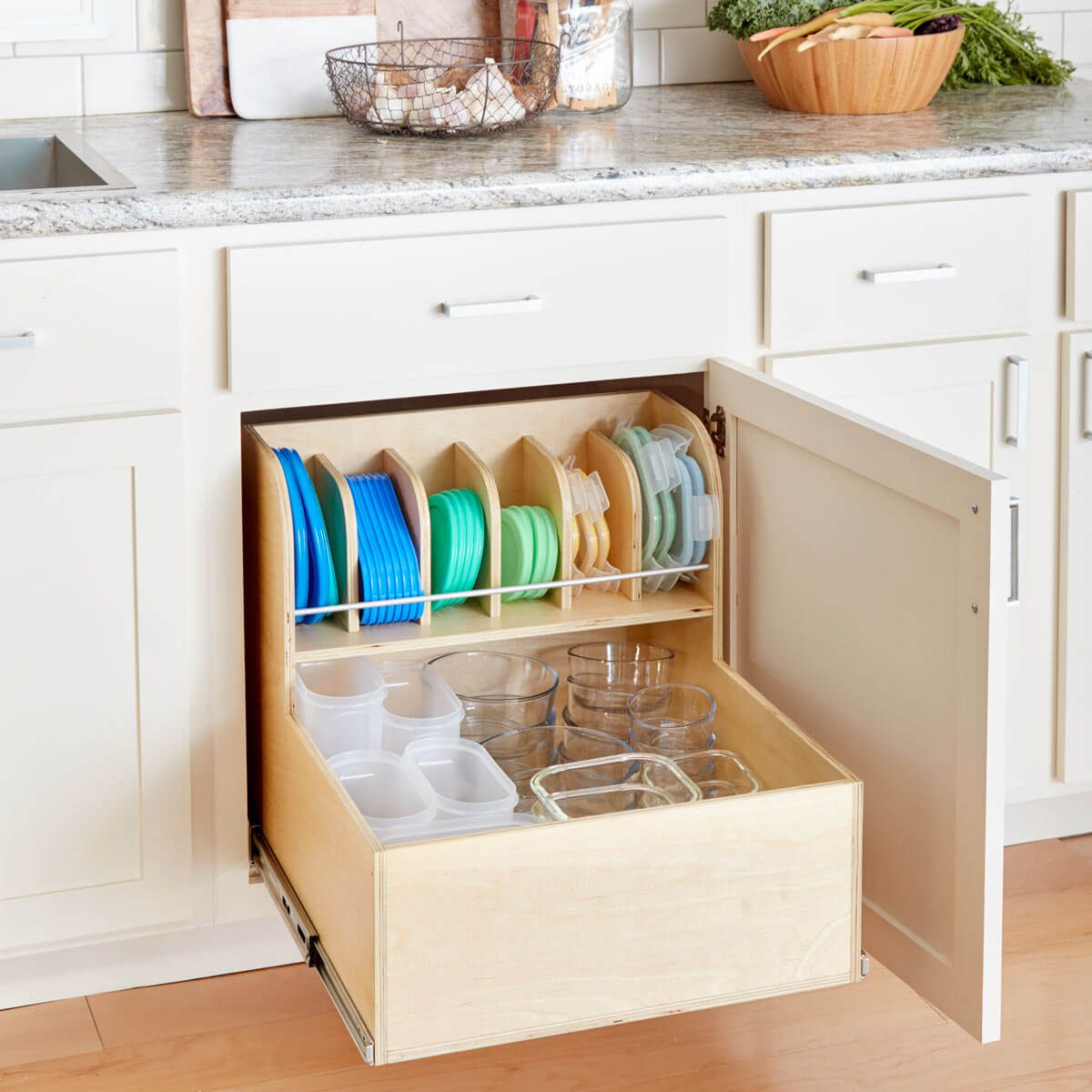 diy kitchen cabinet organizers build an ultimate container storage cabinet the family 14918