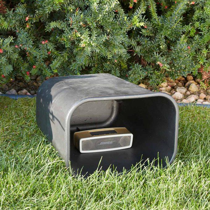 trash can amplifier handy hint
