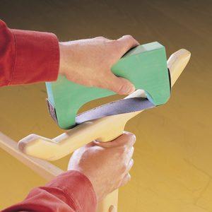 custom sanding bow assembled