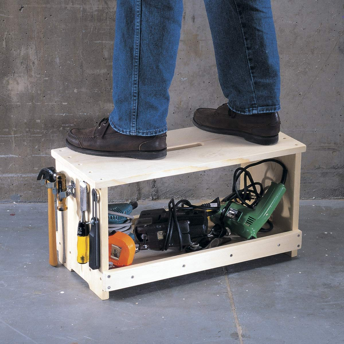 portable workshop stool and more
