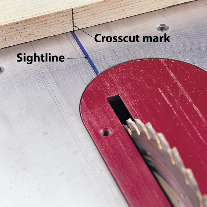 crosscut tip for table saw