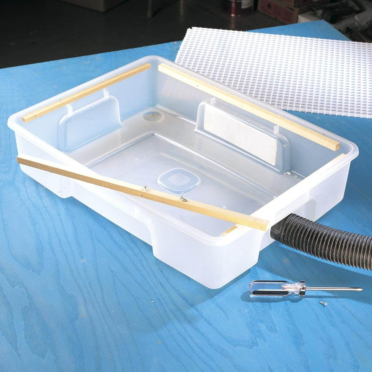 how to make a down draft sanding box