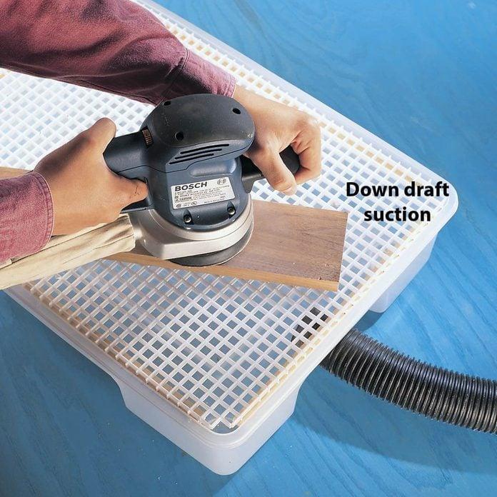 down draft sanding box