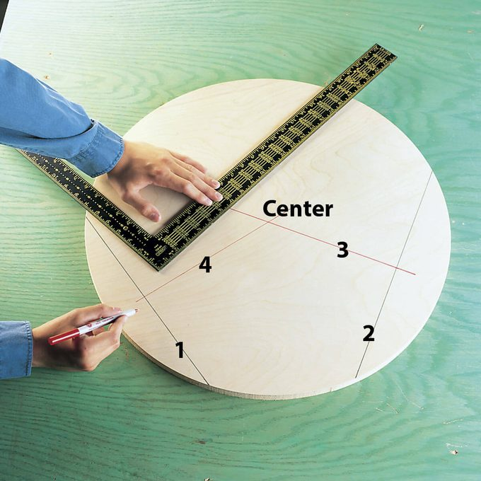 how to find a circle center