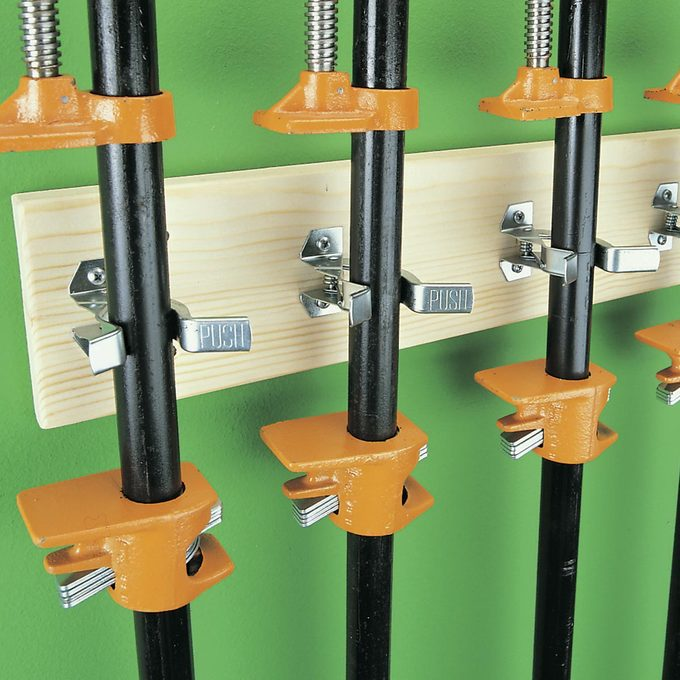 spring grippers to store pipe clamps