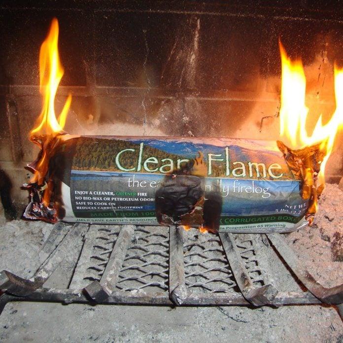 Fireplace fire log