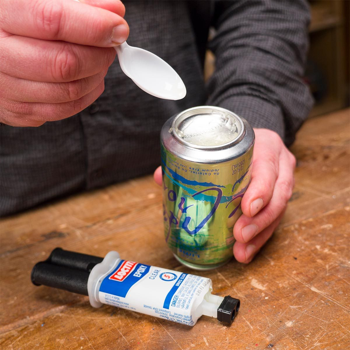 Mix Epoxy With a Can