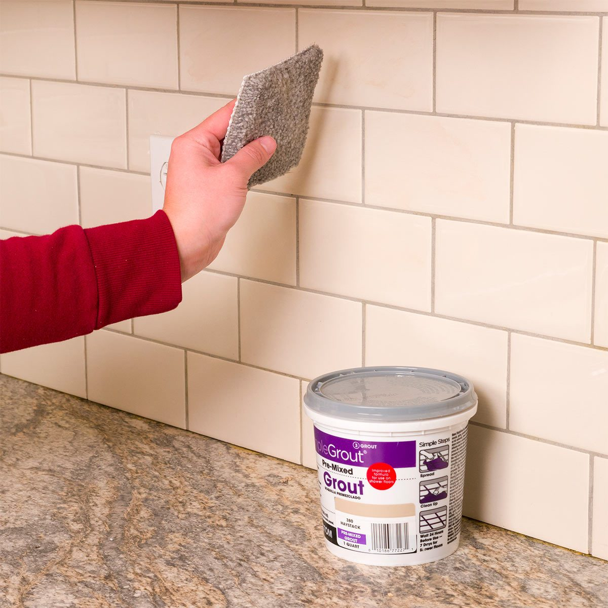 How to regrout bathroom tile fixing bathroom walls family handyman buff away grout haze with carpet how to grout tile dailygadgetfo Image collections