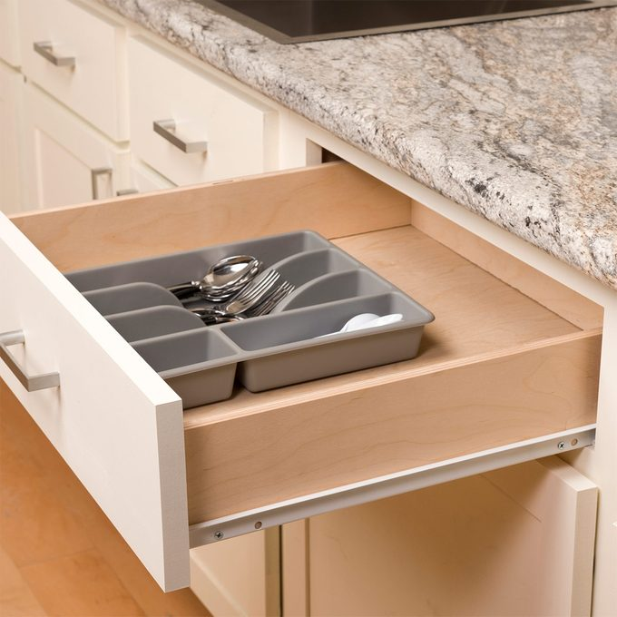 drawer organizer moves around inside the drawer