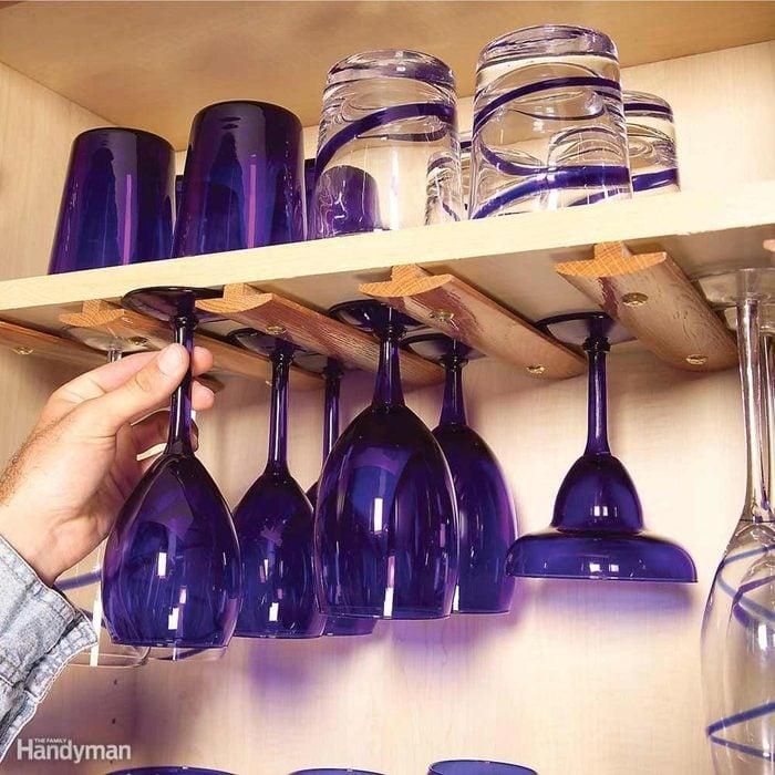 Kitchen Storage: Wine-Glass Molding