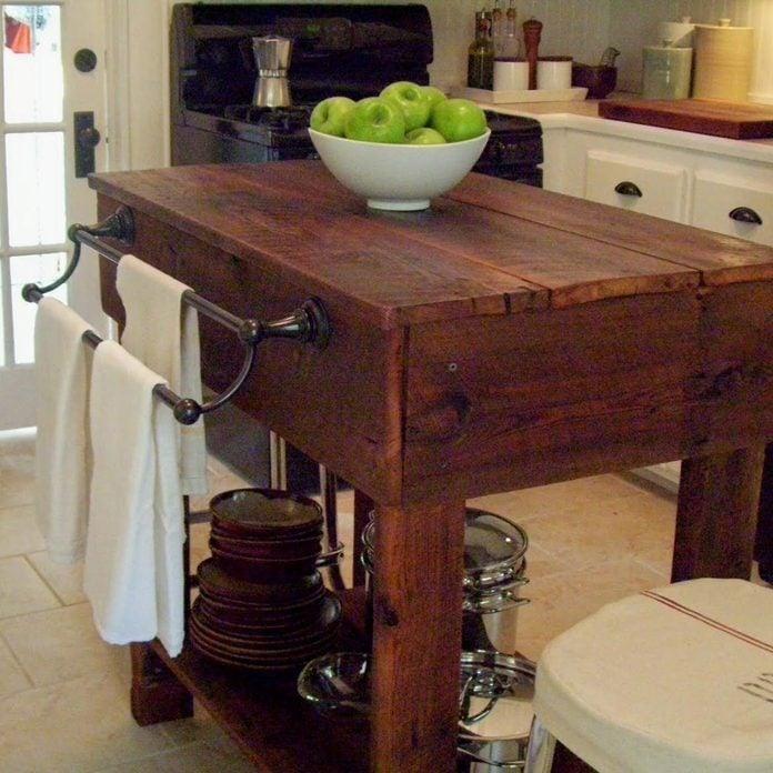 agedwoodisland barn wood kitchen island