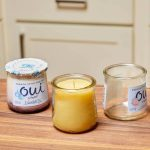 How to Make Beeswax Candles in Glass Yogurt Jars