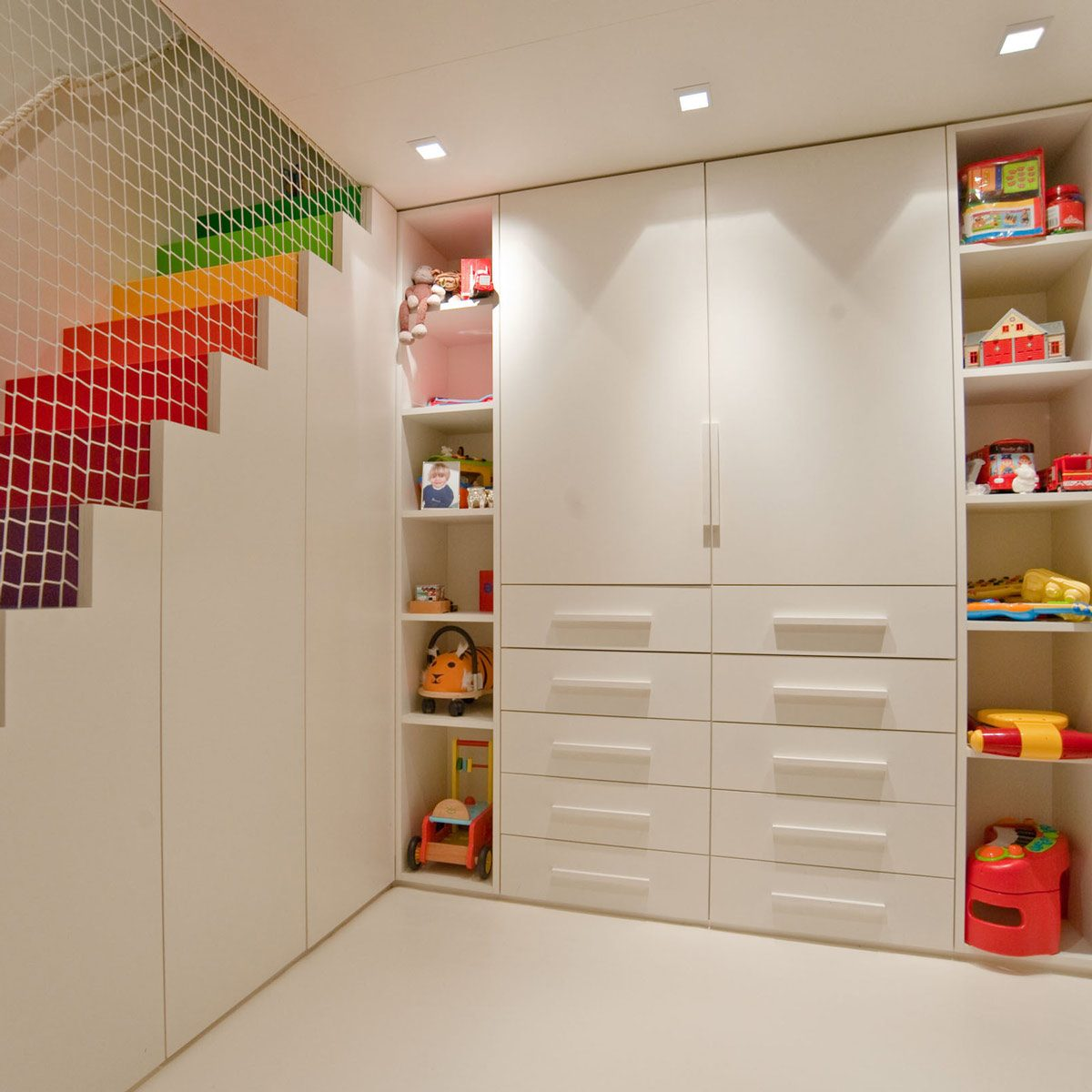 Builtinstorage Colorful Toy Storage