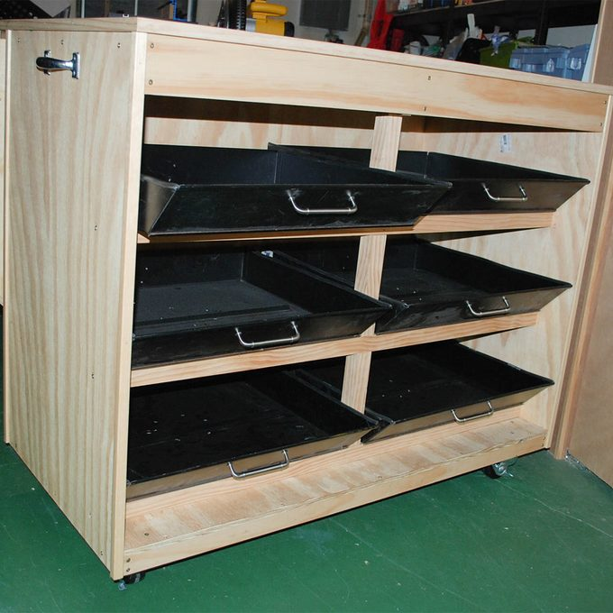 craft table drawers