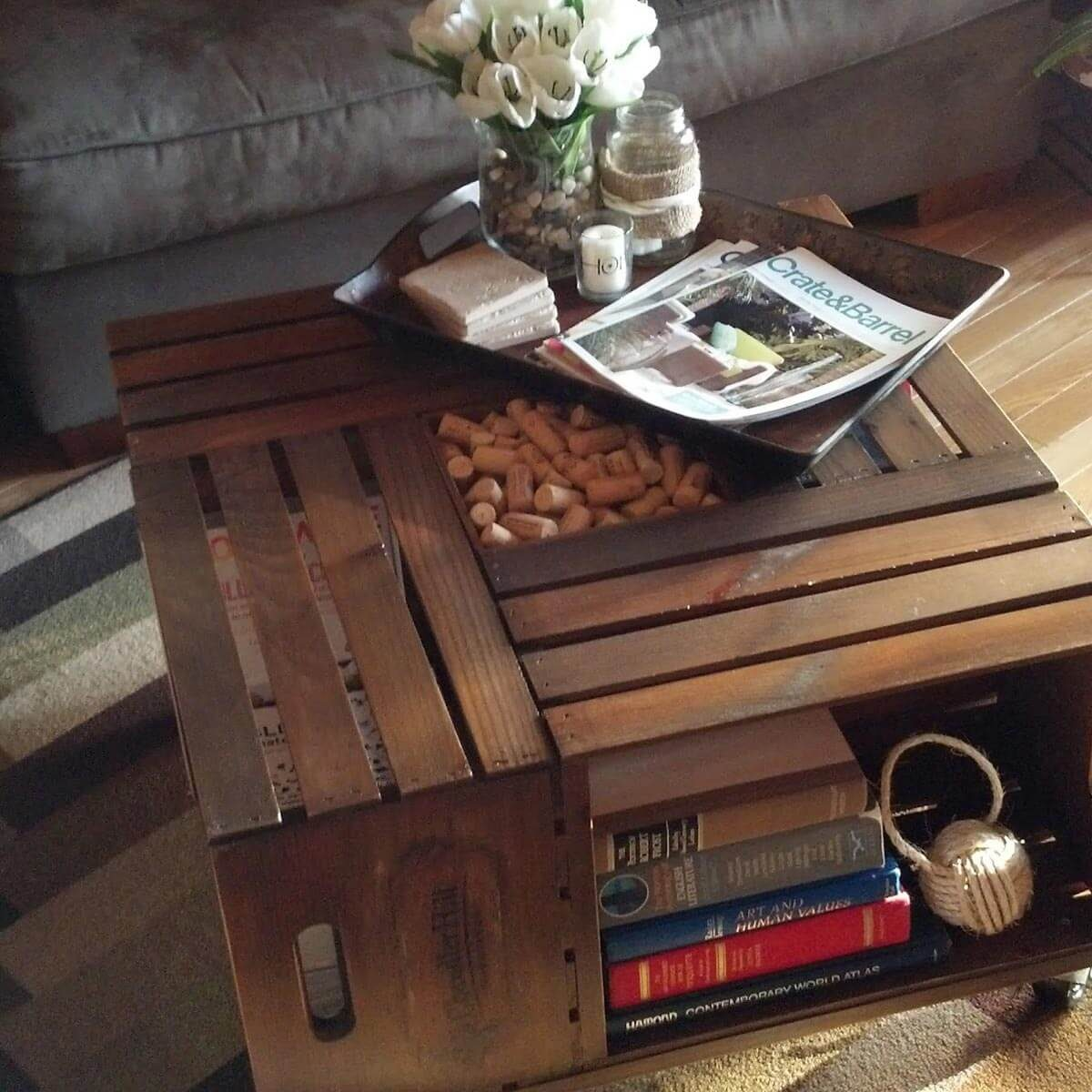 High Quality Wine Crate Table