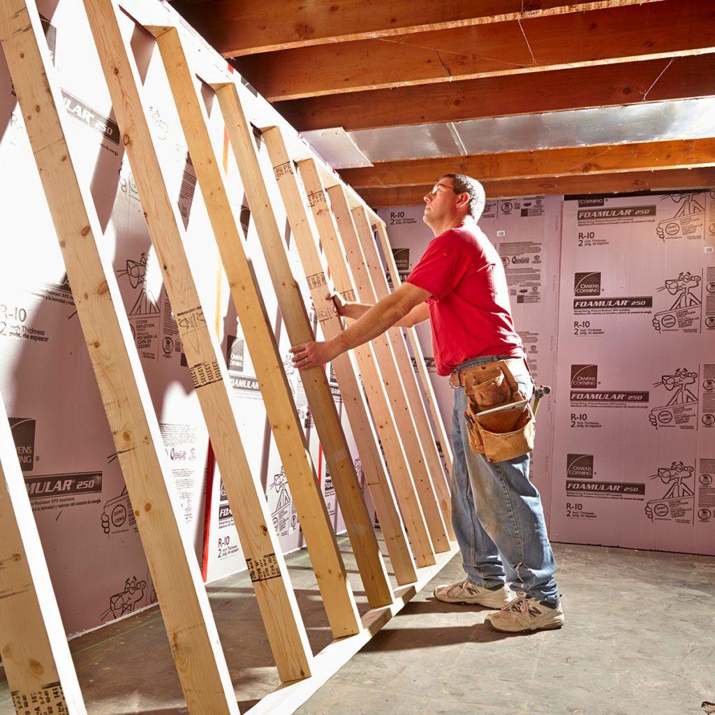 Framing Basement Walls | The Family Handyman