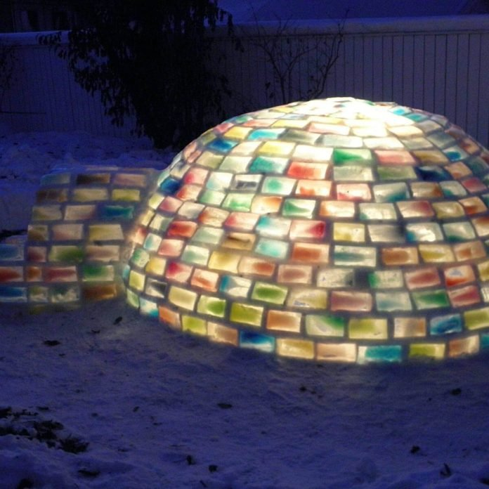 gfvh1 snow fort igloo multi colored