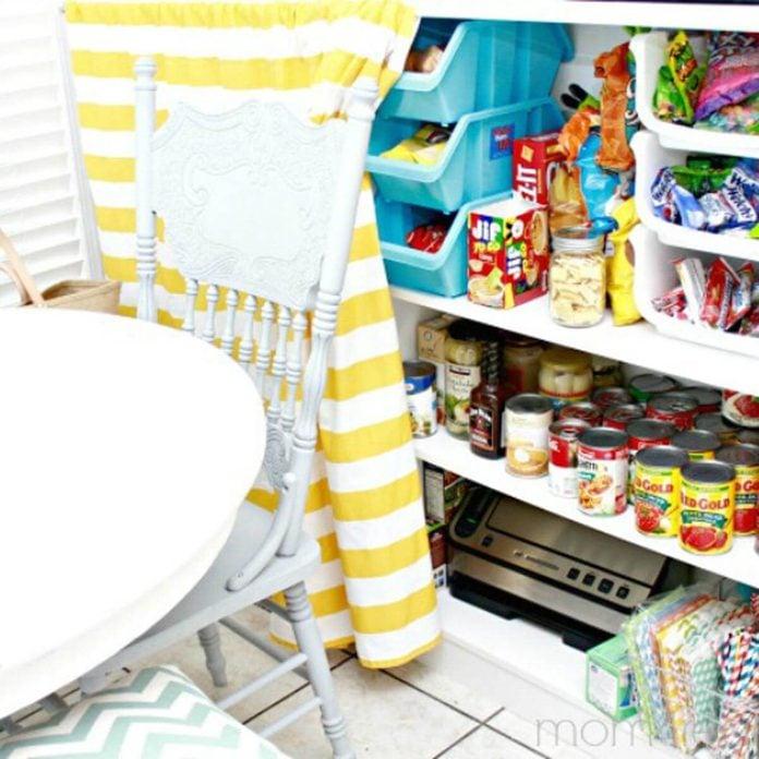 hidden-food-storage-idea pantry curtain