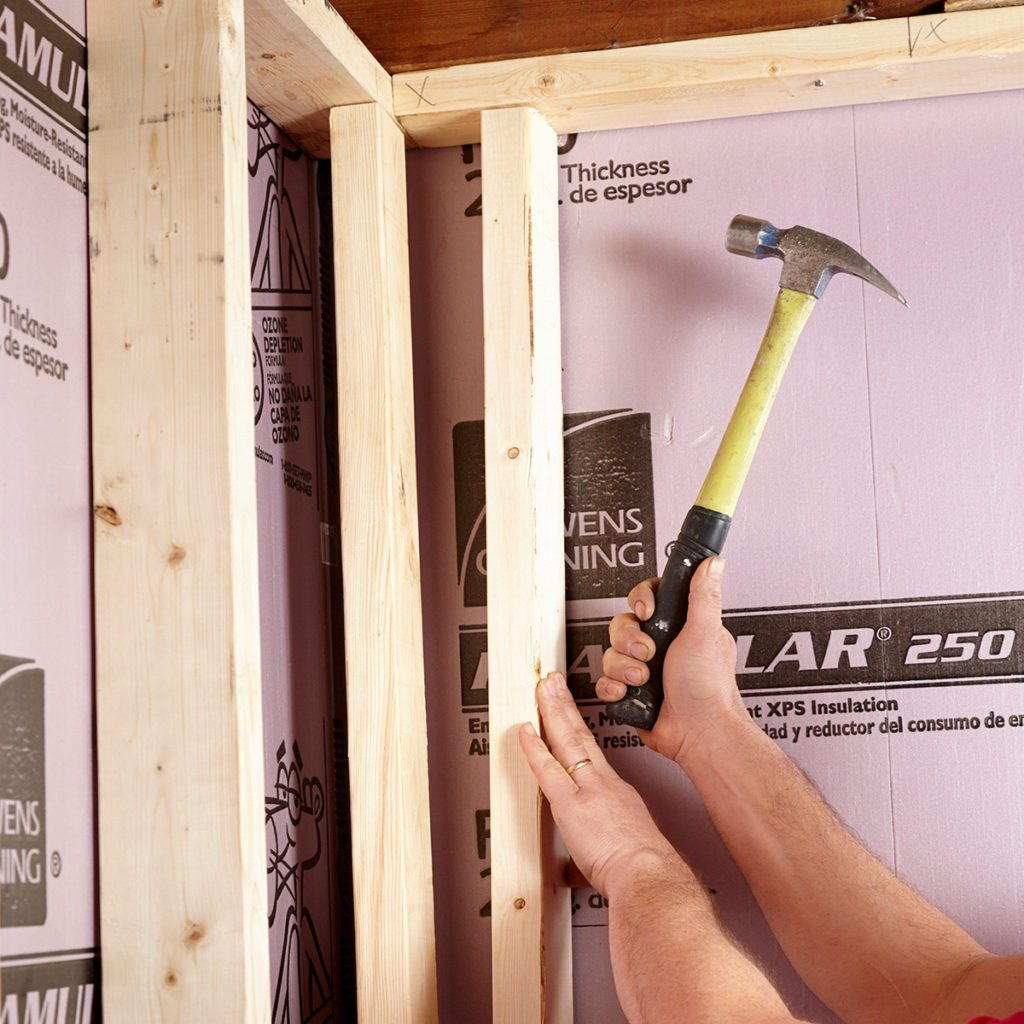 Image of: An Expert Guide To Framing Basement Walls Family Handyman