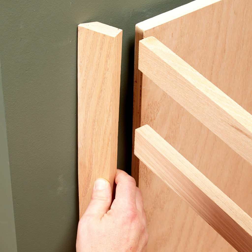 Leave the end stile off to scribe   Construction Pro Tips