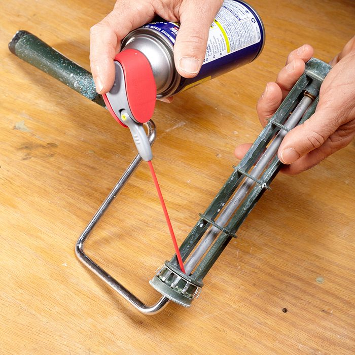 Lube the roller with WD-40   Construction Pro Tips