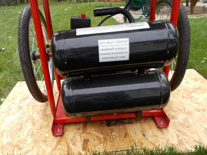 reader compressor cart tank shelf