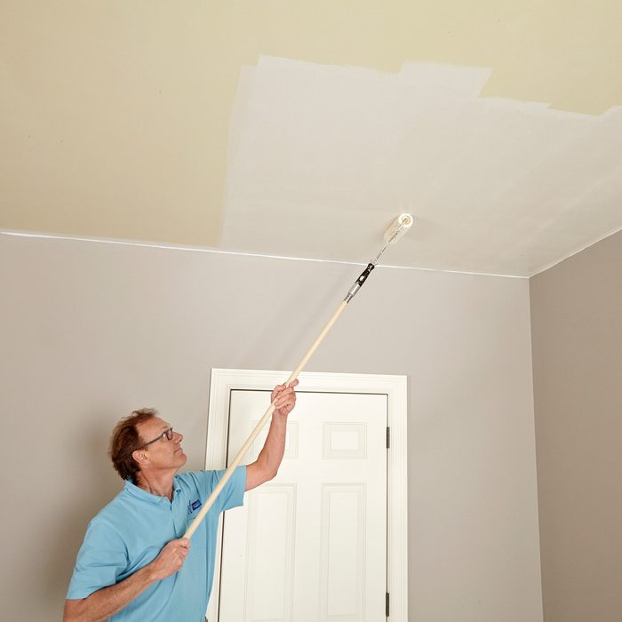 Rolling in both directions while ceiling painting   Construction Pro Tips