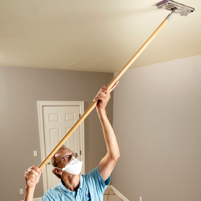 Sanding smooth surfaces before painting ceilings | Construction Pro Tips