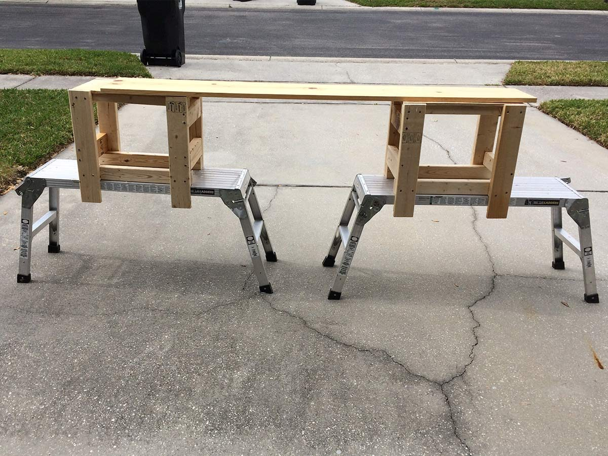 DIY painter platform
