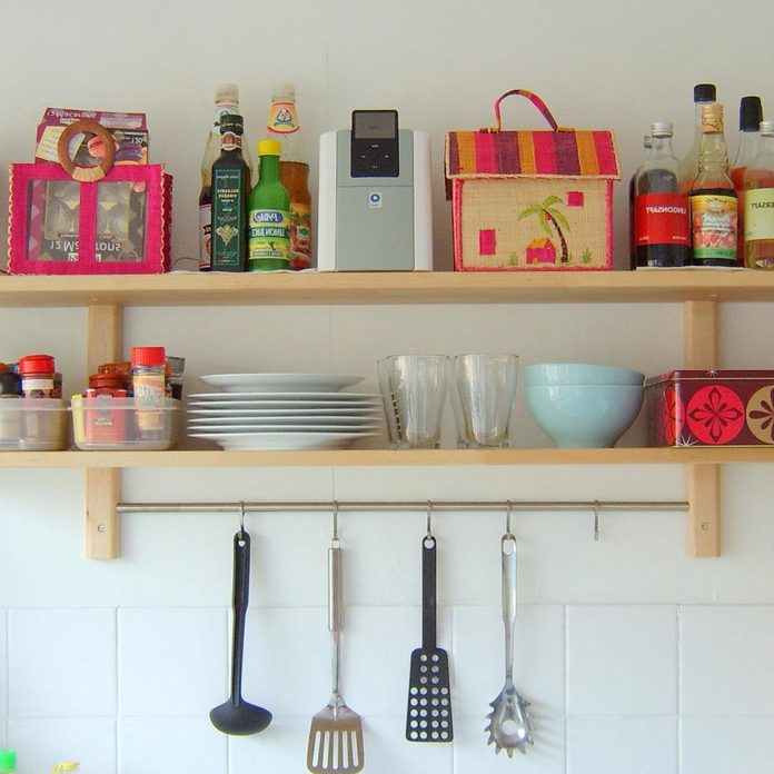 shelves-for-kitchen-wall open