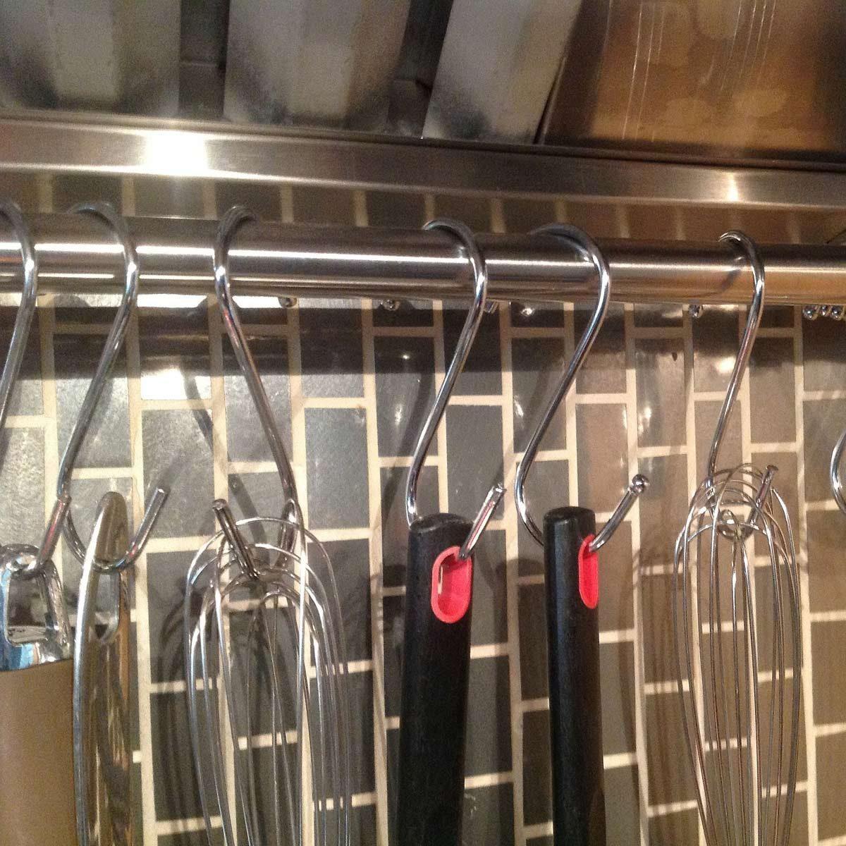 showerrod kitchen storage