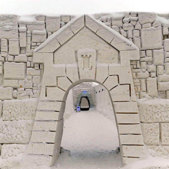 shutterstock_1103101d snow fort castle carved