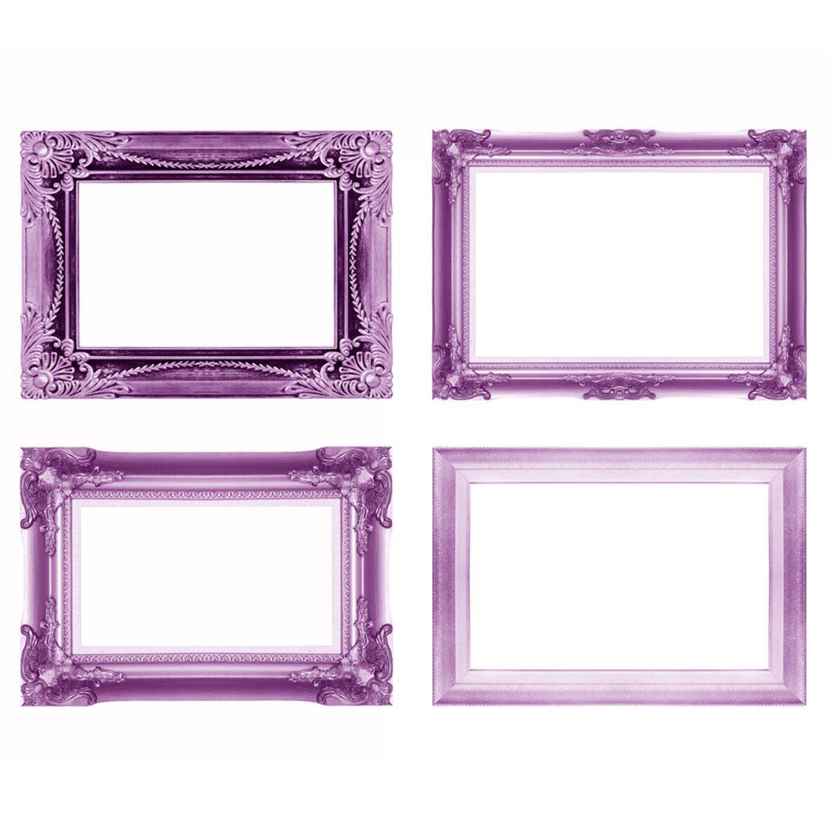 shutterstock_155198090 purple violet picture frames